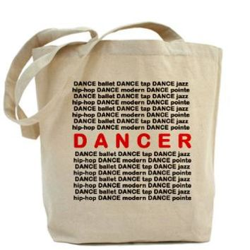 Dancer Block Words Tote Bag