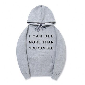 i can see more than you can see Casual Pullover hip hop Men hoodie Sweatshirts Cotton streetwear