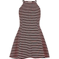 River Island Girls orange stripe fit and flare dress