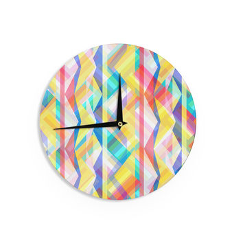 "Miranda Mol ""Triangle Rhythm"" Pastel Geometric Wall Clock"