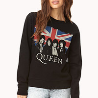 FOREVER 21 Queen Sweatshirt Black/Red
