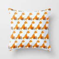 Fox Pattern Throw Pillow by Creative Break
