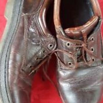 Timberland Mens Sz 11 M Leather Shoes Brown Oxford Casual Blemish