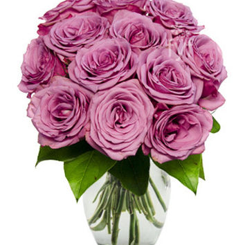 Lavender Roses Flower Bouquet Saturday Delivery