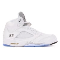 Jordan 5 Retro (White/Black-Metallic Silver)
