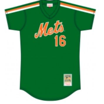 Mitchell & Ness NY Mets Dwight Gooden Green Cooperstown Mesh Batting Practice Jersey