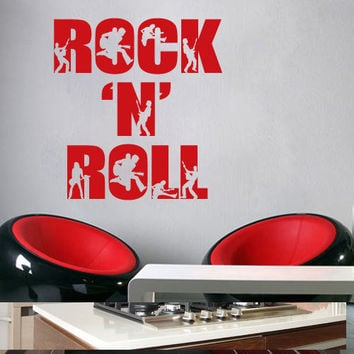 Rock n Roll wall decal for housewares