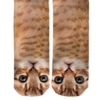 Tabby Cat Barely Show Socks - Tabby Cat Barely Show Socks