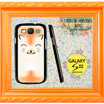 Samsung Galaxy S3 Case, Cute Kitty Cat Samsung Galaxy SIII Case, Hard Plastic Phone Cover, Hard Plastic Phone Case