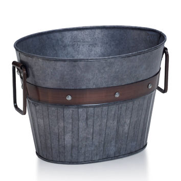 Elements 10-in. Galvanized Metal Bucket