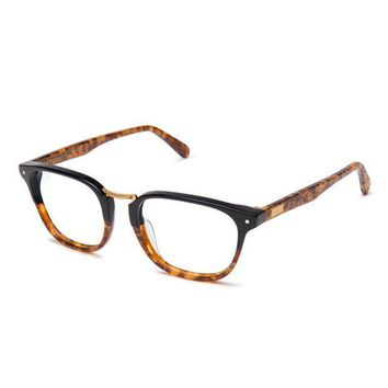 The Olson Amber Snake Clear Lens Reader Glasses - Beauty Ticks