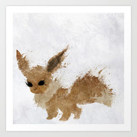 Eevee Art Print by Melissa Smith