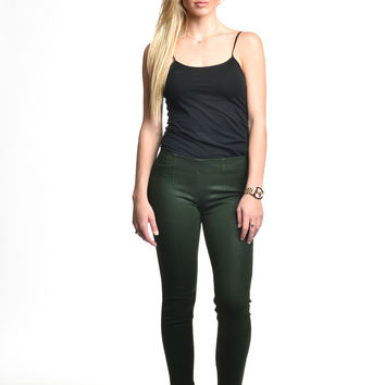 SOLD Green Leather Tight