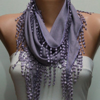 Lilac Scarf Pashmina Scarf by Fatwoman
