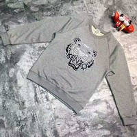 KENZO Fashion Unisex Graffiti Monogram Print Cotton Long Sleeve Hooded Sweater G-A-GHSY-1 Day-First™