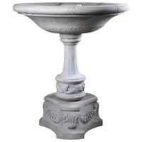 Fountain with Dolphins Decor Sculpted Out White Carrara Marble, 19th Century