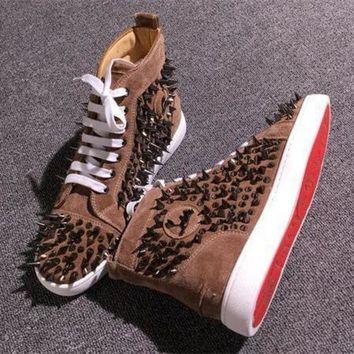 DCCK Cl Christian Louboutin Pik Pik Style #1981 Sneakers Fashion Shoes