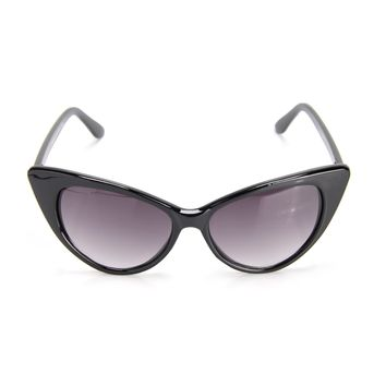 Kitty Cat Call Sunglasses - Black/Smoke