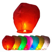 7pcs Chinese Fire Fly Sky Paper Kongming Floating Wishing Lantern Wedding Party