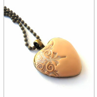 Heart Pendant Necklace, Boho Heart Jewellery, Copper Necklace, Stocking Stuffer, December Gift, New Years Gift, Christmas Sale, Gift For Mom