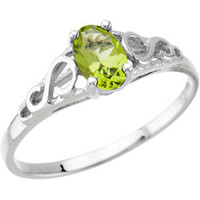 Precious Gift™ Youth Birthstone Ring - August Peridot