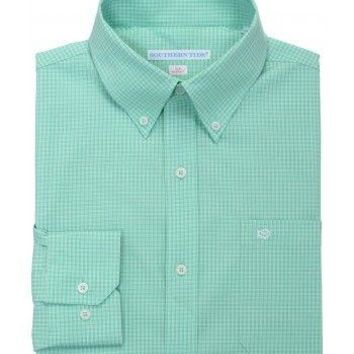 Fortune Hills Plaid Tailored Sport Shirt in Bermuda Teal by Southern Tide - FINAL SALE