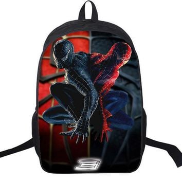 2016 New Children School Bags For Boys Orthopedic Backpacks Child Boy Spiderman Book Bag Satchel Knapsack Mochila
