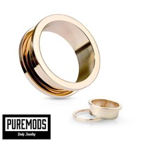 """Rose Gold Screw Fit Tunnels (10G - 5/8"""")"""