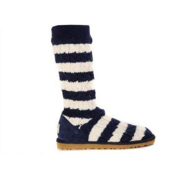 Gotopfashion Ugg Boots Black Friday 2016 Knit Stripe Cable 5822 Blue For Women 89 93