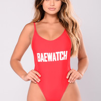 Baewatch Swimsuit - Red