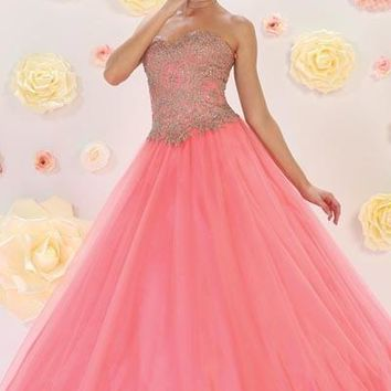 pink sweet 15 quinceanera dress Mayqueen LK74 - CLOSEOUT