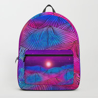 Lines in the mountains XXII Backpack by Viviana Gonzalez
