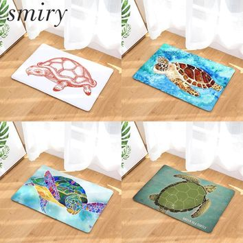 Autumn Fall welcome door mat doormat Smiry anti-skid colorfast in front of s cute sea animals pattern blue tortoise rugs large water absorption kitchen mats AT_76_7