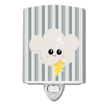 Weather Thuderstorm Face Ceramic Night Light BB7148CNL