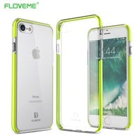FLOVEME Case For iPhone 7 7 Plus Cases Silicone Shockproof Cover For iPhone 7 Plus Case Soft TPU Silicon Phone Accessories Coque
