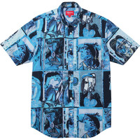 Supreme: Cubist Shirt - Blue
