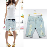 Tassel Dog Pattern Embroidered Pocket High Quality Low Waist Vintage Slim Bow Cotton Hollow Out Womens Jeans 2016 Hot Jeans