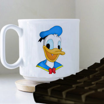 Donald Duck Drawings mug heppy mug coffee, mug tea, size 8,2 x 9,5 cm.