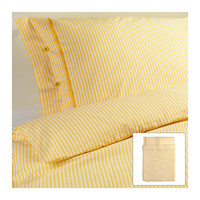 NYPONROS Duvet cover and pillowcase(s) - yellow, Full/Queen (Double/Queen)  - IKEA