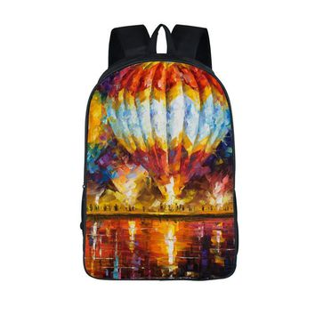 Painting Art Backpack Women School Bags For Boys Girls Mens Colorful Scenery Pinting Travel Bags 2017 Male mochilas Laptop Bags