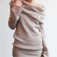 Piles Collared Knit Sweater