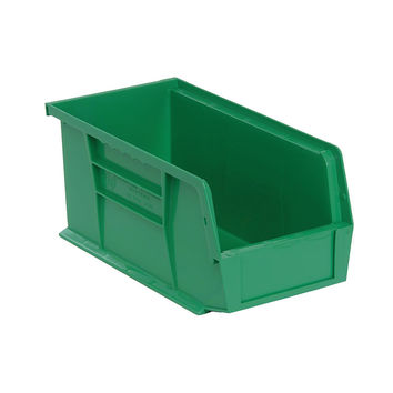Quantum Storage Systems Ultra Stack And Hang Bin 10-7/8Lx 5-1/2Wx 5H - Green Pack Of 12