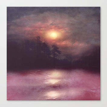 Hope in the pink water Canvas Print by vivianagonzlez
