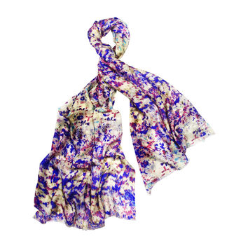 So into this design on Fab! Splatter Purple Scarf #FabForAll