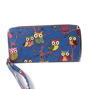 Women Wallet Leather Female Purse Wristlet Long Clutch Card Holder Coin Purses High Quality Cartoon Printing Phone Cash Wallets