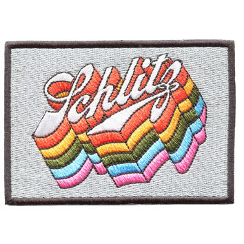 Vintage Style Schlitz Disco Embroidered Patch 10cm