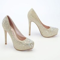 Glitter Mesh Platforms with Crystals - David's Bridal