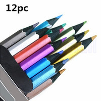 12 pcs Metallic Non-toxic Colored Drawing Pencils 12 Colors Drawing Sketching [8072708103]