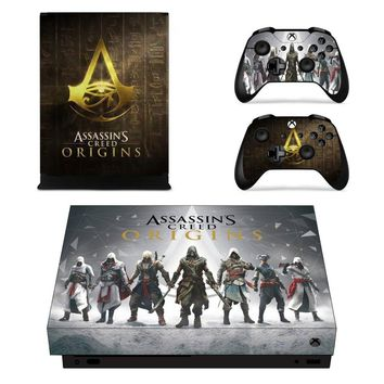 X0062 Game accessories Skin Sticker for Microsoft Xbox One X Console and 2 Controllers skins Stickers for XBOXONE X Enhanced
