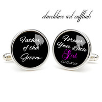 Father of the groom  ,photo cufflinks, wedding gift ideas for bride,perfect gift for dad,groomsmen cufflinks,cufflinks for wedding